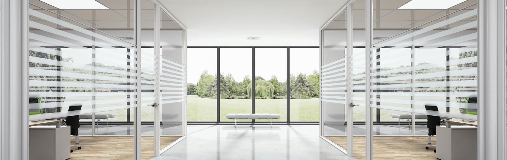 Pareti divisorie in vetro quali scegliere per il proprio for Divisori da ufficio